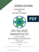Julie Jones-Evans Manifesto