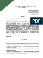 5 Gestão de Processos Estudo de Caso Em Uma Empresa Metalmecânica