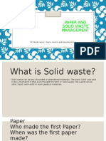 Paper and Solid Waste Management