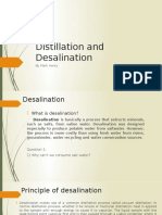 Distillation and Desalination
