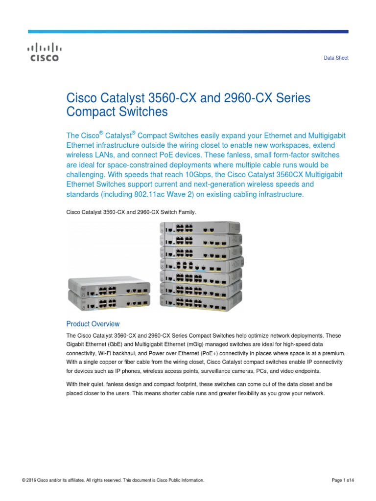 Cisco Catalyst 3560 Cx And 2960 Series Network Switch Necessary Should Be Connected To Computer