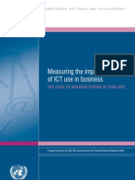 Measuring the Impact of ICT Use in Business - Thailand