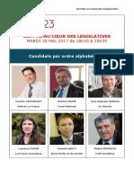 Invitation Au DÉBAT Aux LÉGISLATIVES 2017 en Creuse Le 30 Mai 2017