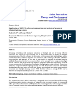 Application of Relux Software in Simulation and Analysis of an Energy Efficient Lighting Scheme