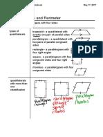 quadrilaterals and perimeter