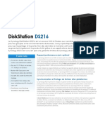 Synology DS216 Data Sheet Fra