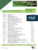Test Method RC 00000 Index of VicRoads Test Methods