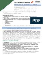 Orientações Para Redação de Relatórios de Aula Prática