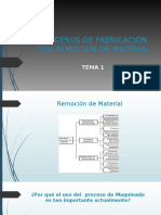 Procesos de Fabricación Con Remoción de Material