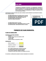 Ejemplo de Presentación de Plano MUNICIPAL