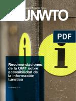 Recomendaciones OMT Accesibilidad Información Turística