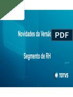Novidades Da V12 - Segmento RH