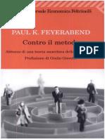 Feyerabend - Contro Il Metodo. Abbozzo Di Una Teoria Anarchica Della Conoscenza