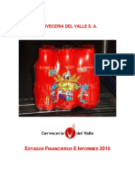 Informe de Gestion Cerveceria Del Valle 2010