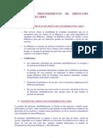 PROCEDIMIENTO DE PRÉSTAMO INTERBIBLIOTECARIO