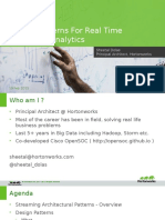 Design Patterns for Real Time Streaming Data Analytics Presentation