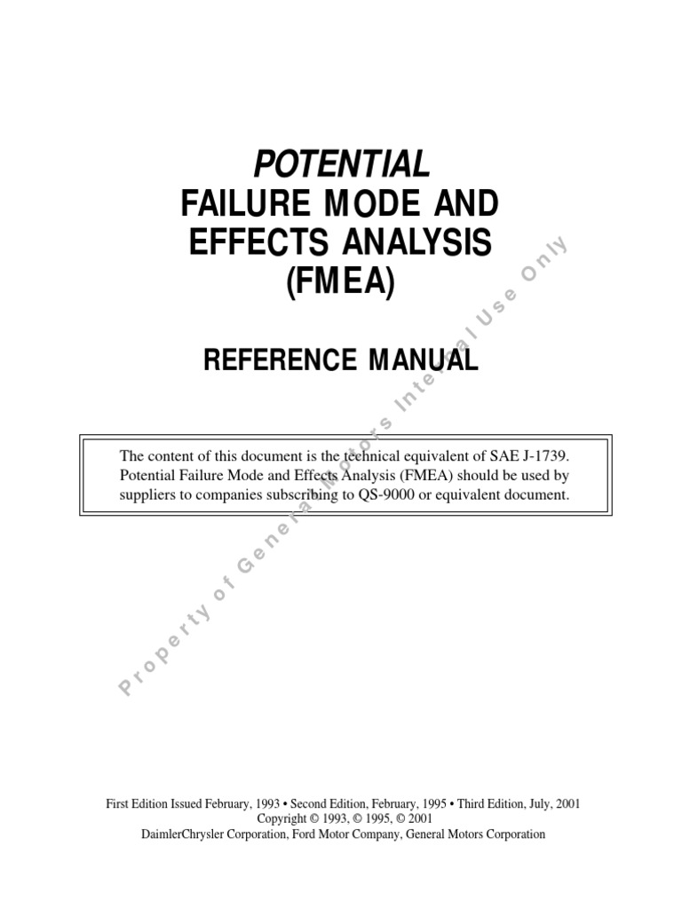 fmea 3rd edition july 2001 pdf automotive industry industries rh scribd com Reference Manual Clip Art Zenith VCR Manuals