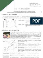 INSA Toulouse 1A Mecanique Du Point Examen Mai 2008