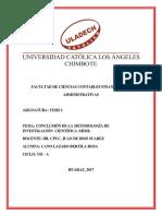 Tesis i Conclusion de Metodologia (Mimi) Cano Lazaro Bertila.
