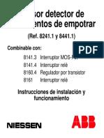 7980611-III - Instrucciones Sensor Detector de Mov. de Empotrar