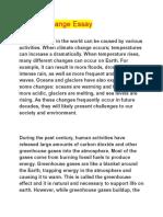 Climate Change Essay