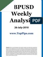 GBPUSD Weekly Analysis 26 July 2010