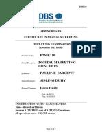 B7MK110 Digital Marketing Concepts August 2016 Sept Intake