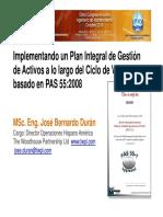 17.- Jose Duran INGLATERRA Gestion de Activos Acorde PAS 55 TWPL Congreso Ipeman