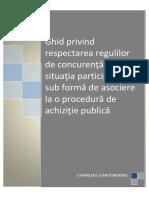 Ghid Privind Respectarea Regulilor de Concurenta Achizitii Publice (Consiliul Concurentei)