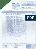 2.- Factura de Analisis de Agua.