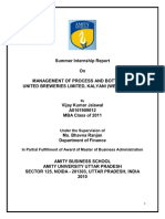 39665945 Management of Process and Bottling in United Breweries Limited Kalyani West Bengal