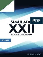 4o Simulado OAB de Bolso D. Trabalho - 2a Fase XXII Exame de Ordem