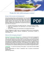 An Overview of What is New in ISO DIS 140012014