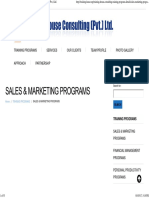 Sales & Marketing Programs _ Training House Consulting (Pvt.) Ltd