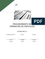 14. Procedimiento de Operacion de Vehiculos