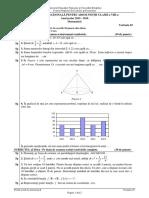 2015 - 2016 - 3 SUBIECT REZERVĂ Evaluare Națională Matematică Cu Barem 29.06.2016