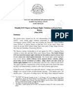 Monthly KNU Report on Human Rights Violations in Karen State, Burma (June 2010)