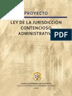 Proyecto de ley de la Juridiccion Contencioso administrativo