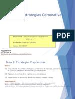 Tema 6 Estrategias Corporativas
