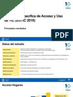 Encuesta Específica de Acceso y Uso de TIC (EUTIC 2016)