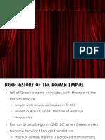 Roman Theatre Presentation