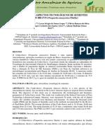 Biometria e Aspectos Físicos Das Sementes de Cedro Bravo - Lopes et al. (2015)