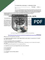 Evaluación Formativa Lenguaje U3