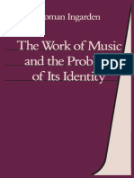 INGARDEN, Roman, Jean G. Harrell (Eds.)-The Work of Music and the Problem of Its Identity