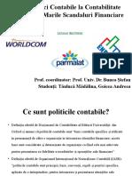 De La Politici Contabile La Contabilitate Creativă În Mari Scandaluri Financiare