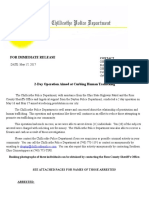 Human Trafficking Press Release