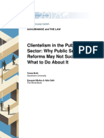 Clientelism in the public sector