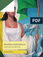 Primaria Cuarto Grado Desafios Matematicos Libro Para El Alumno Libro de Texto