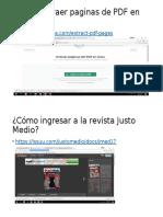 Cómo Extraer Paginas de PDF en Línea