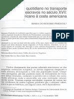 Pimentel, Maria Do Rosario - Aspectos Do Cotidiano No Transporte de Escravos No Sec XVIII